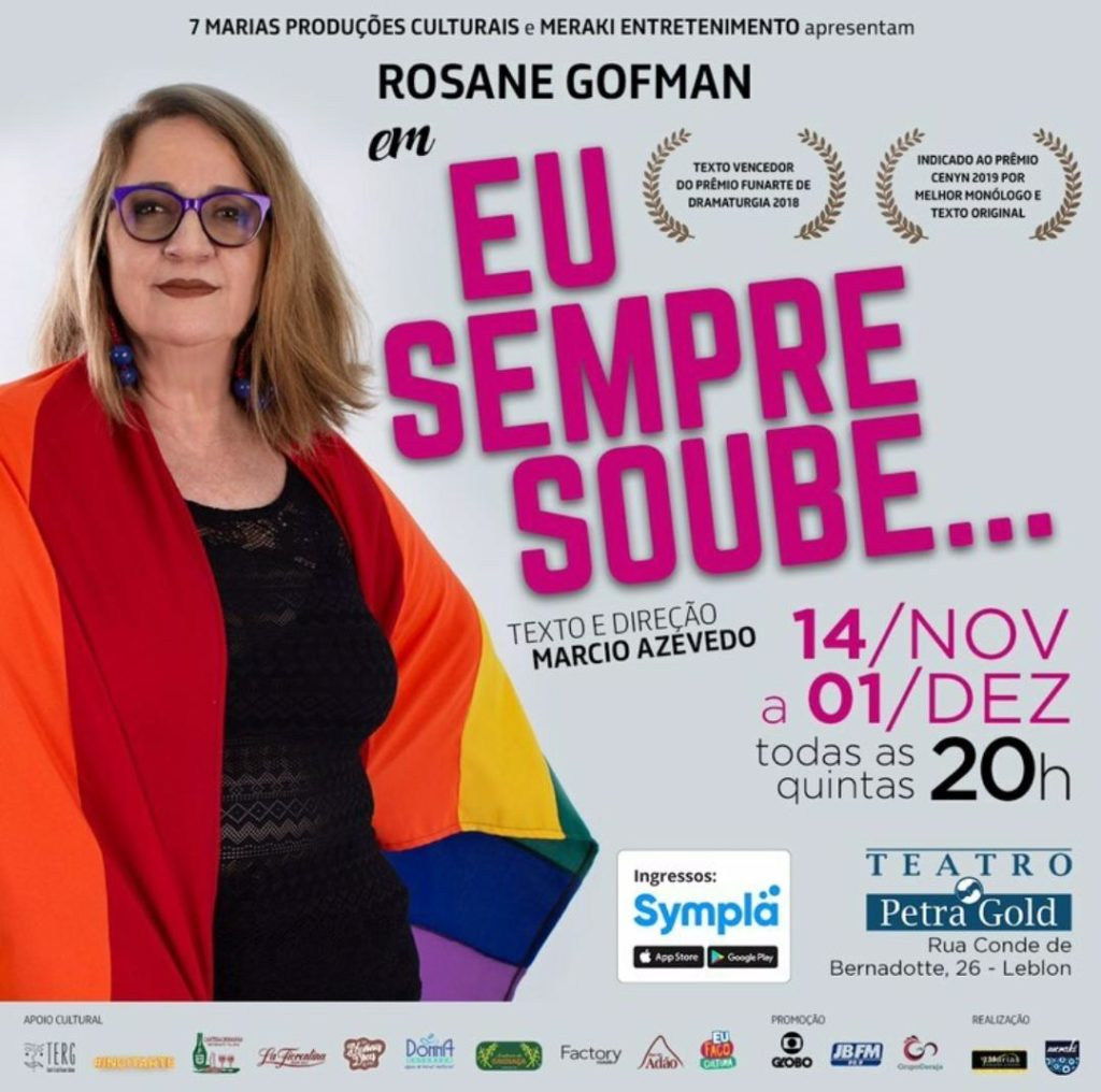 Rio Gay Life sorteia 5 pares de ingresso para o sucesso teatral 'Eu Sempre Soube'