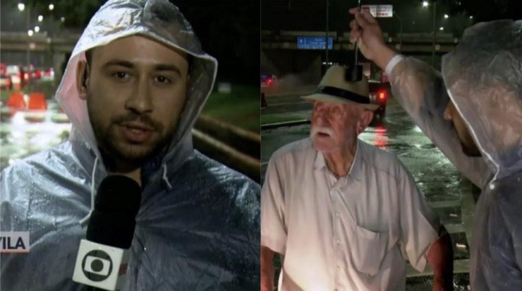 Jornalista da Globo que socorreu idoso em temporal é vítima de homofobia e dá resposta maravilhosa