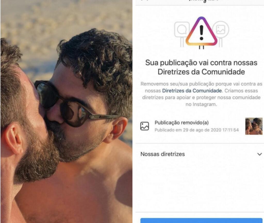 Casal que teve foto censurada pelo Instagram quer entrar na Justiça para identificar haters