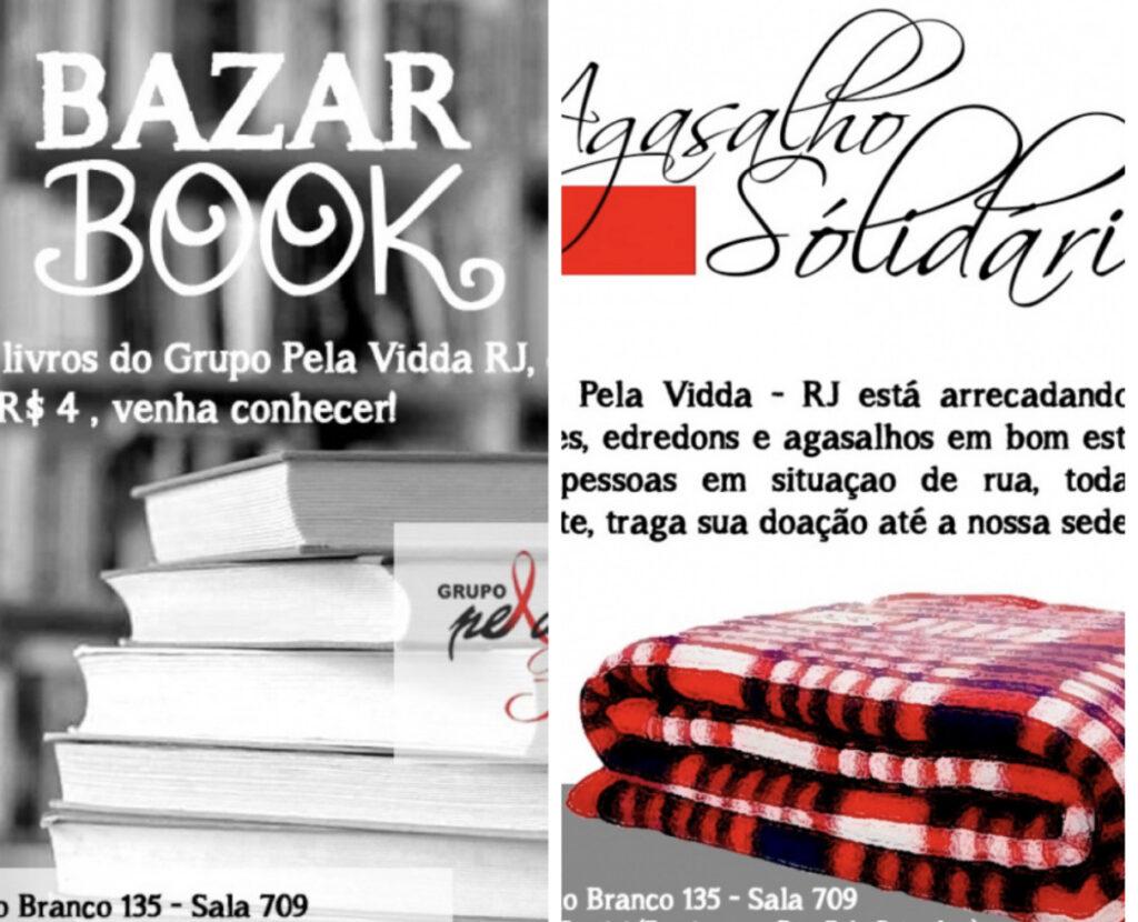 Grupo Pela Vidda-RJ promove bazar de livros e campanha do agasalho