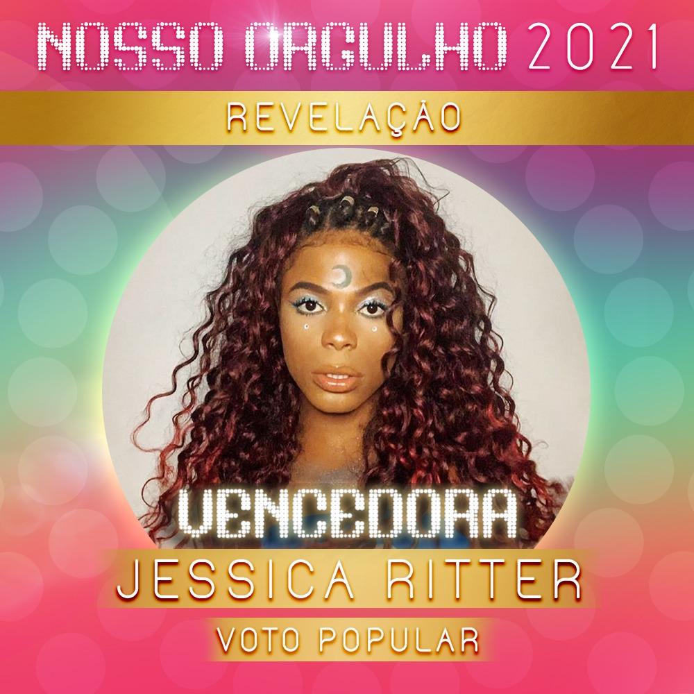 Jessica Ritter é a grande revelação do ano e vence Prêmio Nosso Orgulho 2021